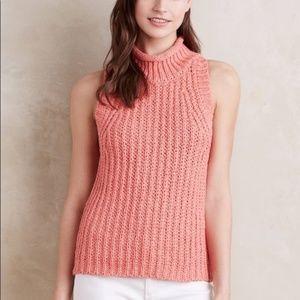 MOTH Chunky Knit Sleeveless Turtleneck Sweater